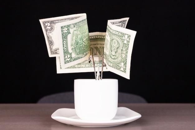 A tree made of money Premium Photo