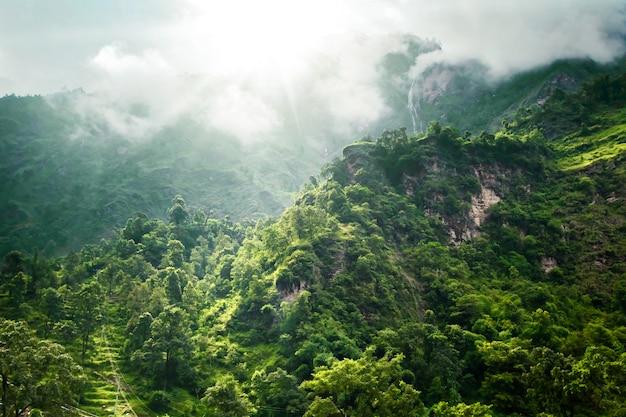 Trekking in nepal Premium Photo