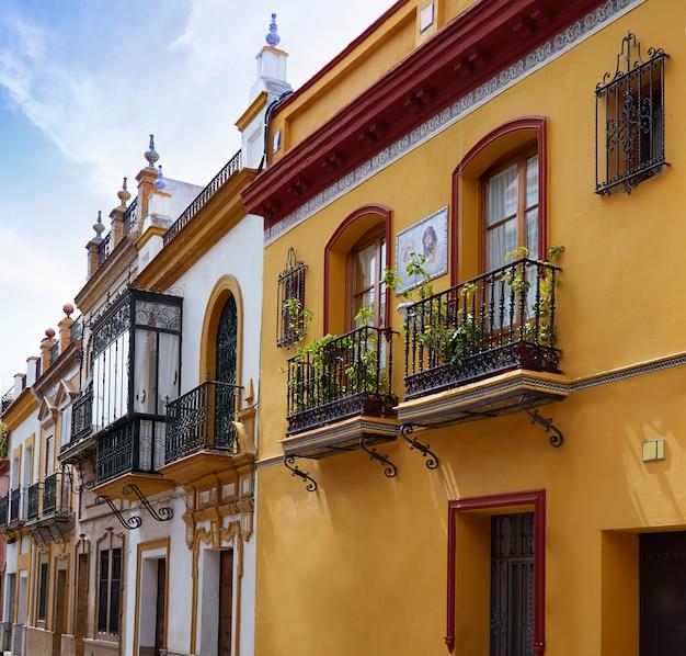 Triana barrio of seville facades andalusia spain Premium Photo