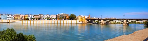 Triana barrio of seville panoramic andalusia Premium Photo
