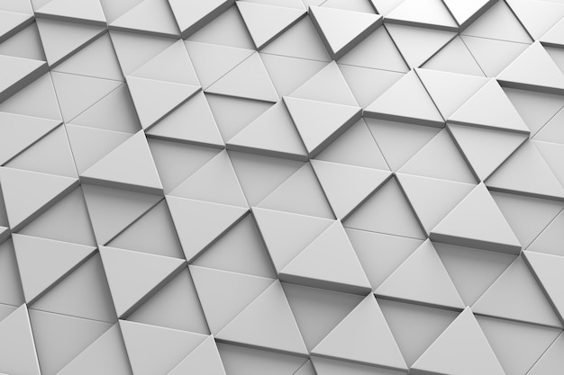 Треугольная плитка 3d модель Premium Фотографии
