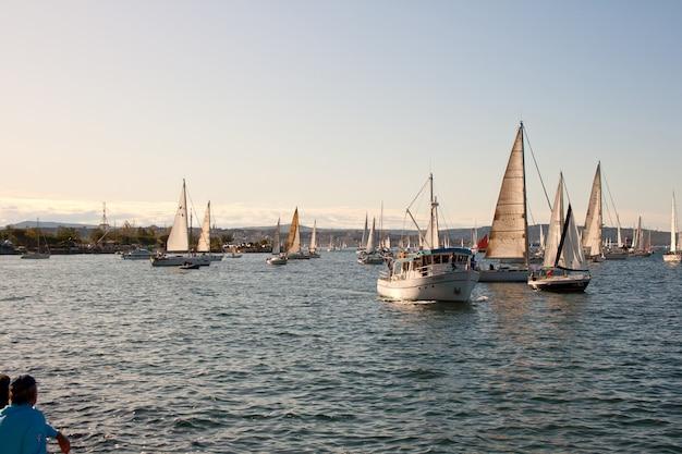 Trieste, barcolana 2009 - the trieste regatta Premium Photo