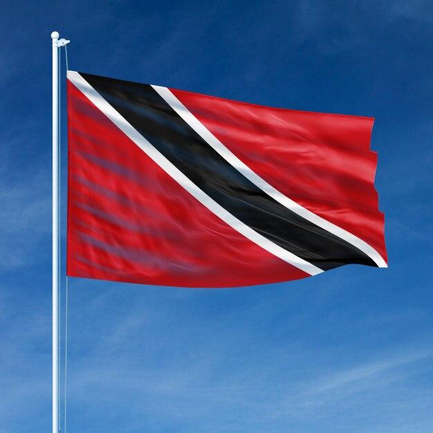Trinidad and tobago flag flying Premium Photo