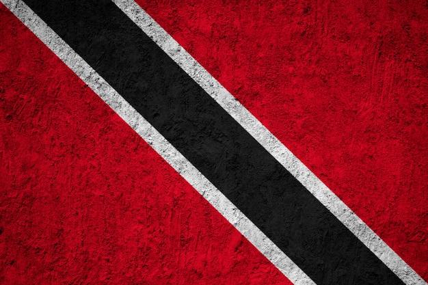 Trinidad and tobago flag painted on grunge wall Premium Photo