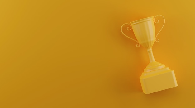 Trophy award with copy space. Premium Photo