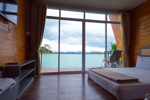 Tropical bedroom interior Premium Photo