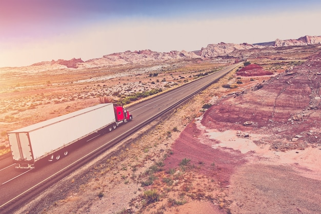 Truck transport concept Free Photo