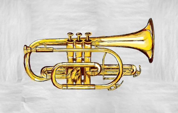 Trumpet painting image Free Photo