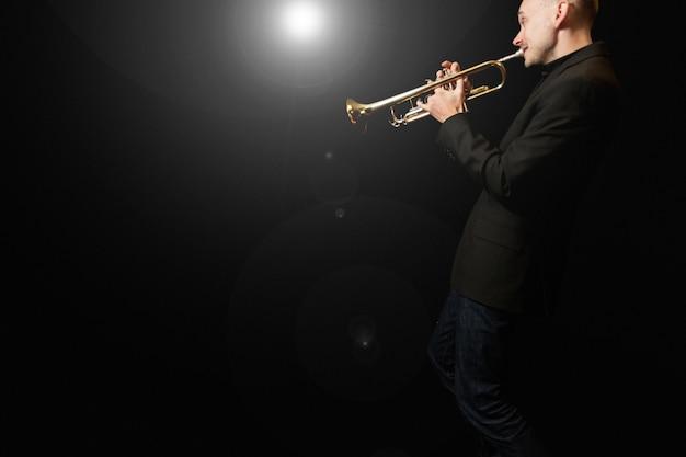 Trumpet player Free Photo