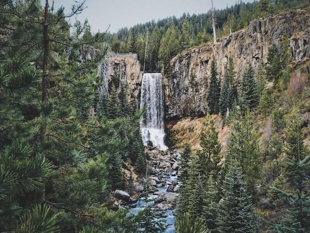 Tumalo falls cascata in oregon, usa Foto Gratuite