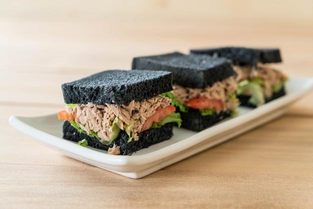 Tuna charcoal  sandwich Free Photo