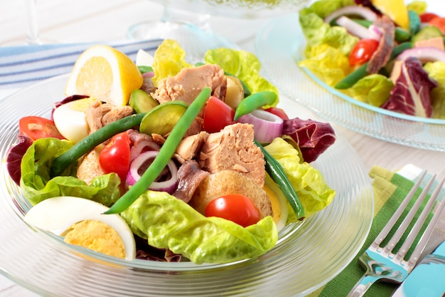Tuna salad presentation Free Photo