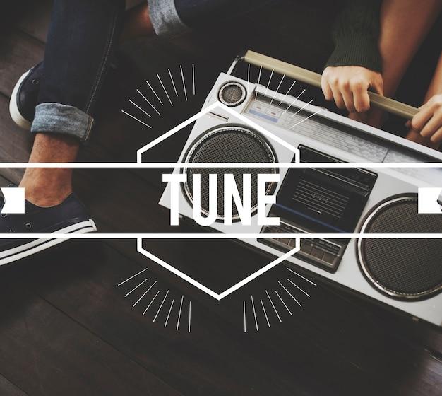 Tune vintage vector graphic concept Free Photo