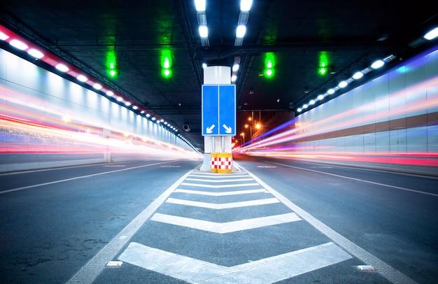 Tunnels and car Premium Photo