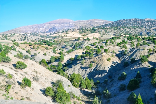 turkey country taurus mountains general view with blue sky photo