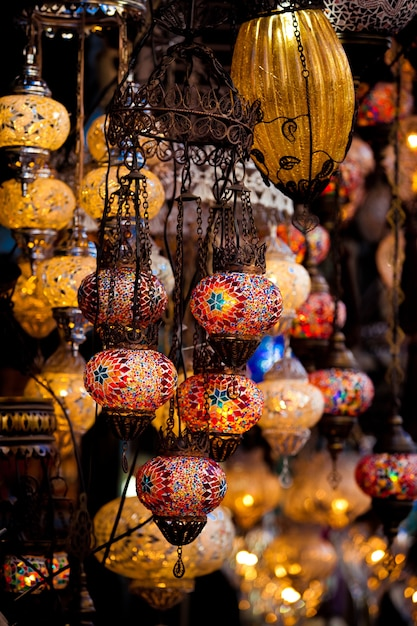 Premium Photo Turkish Decorative Lamps For Sale On Grand Bazaar At Istanbul Turkey