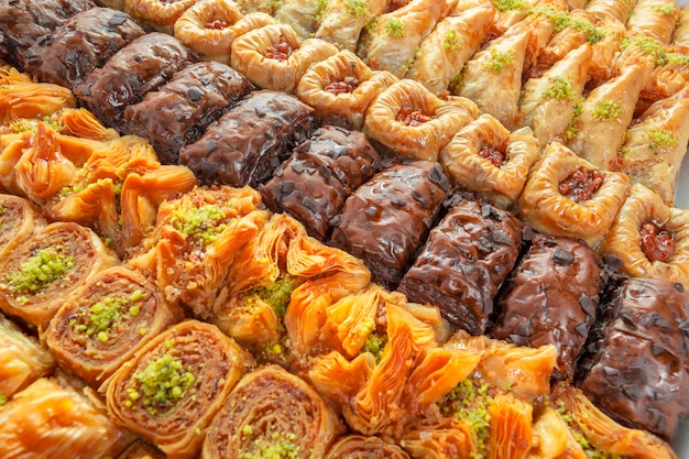 Turkish dessert baklava Premium Photo