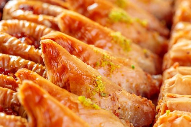 Turkish dessert baklava Premium Photo