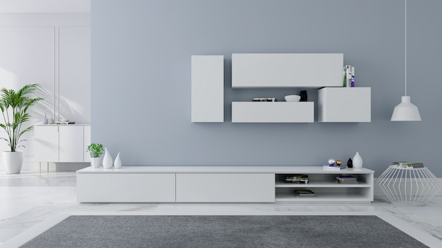 Tv cabinet interior design modern and cozy idea Premium Photo