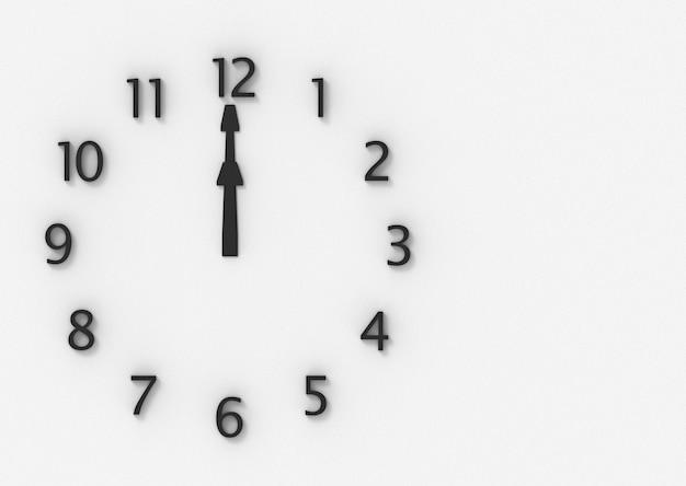 Twelve o clock on the wall Premium Photo