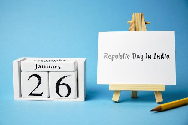 Twenty sixth day of winter month calendar january. Premium Photo
