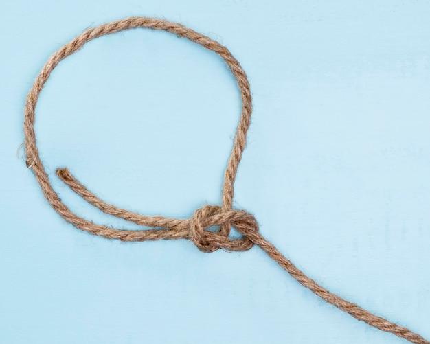 ひも強いベージュロープシンプルな結び目 無料写真