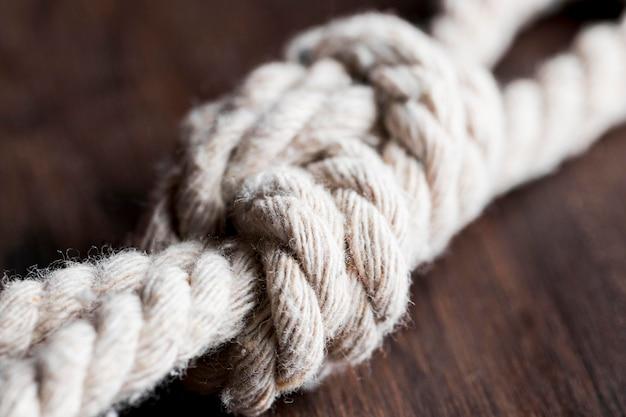 Twine strong whiteblurred rope Premium Photo