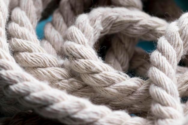 ひもの強い白いロープのクローズアップ 無料写真