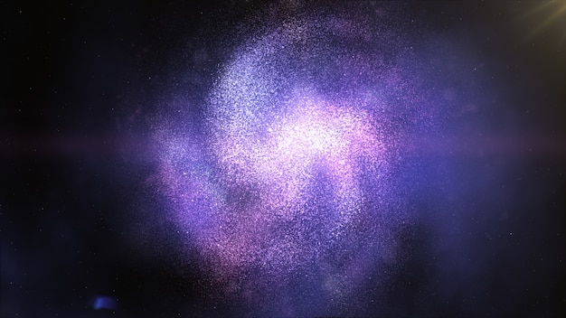 Twisted spiral galaxy in space. stars cosmos black hole Premium Photo