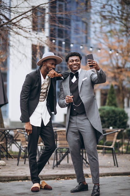 Two african businessman   meeting together Free Photo
