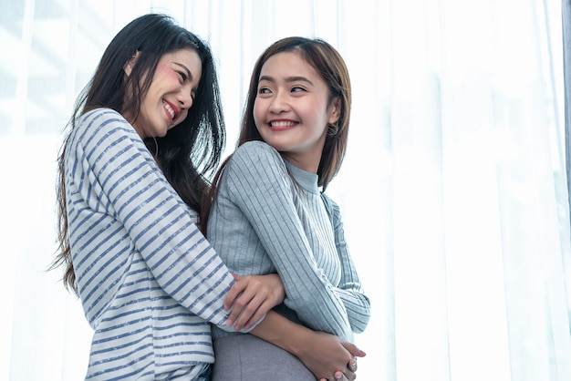 Two asian lesbian