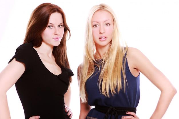 Two beautiful womanfriends Free Photo