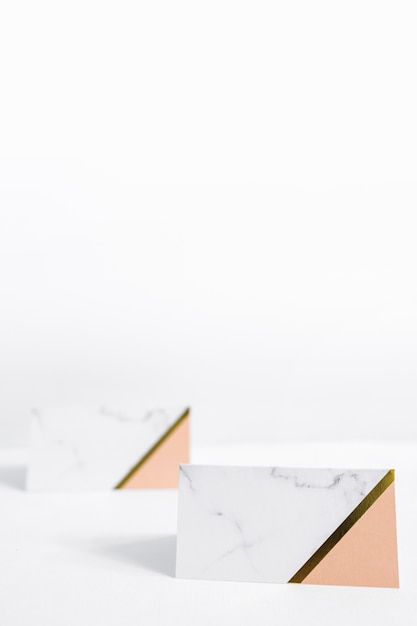 Two blank envelopes against white background Free Photo