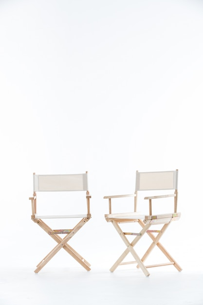 Two chairs in white. Premium Photo