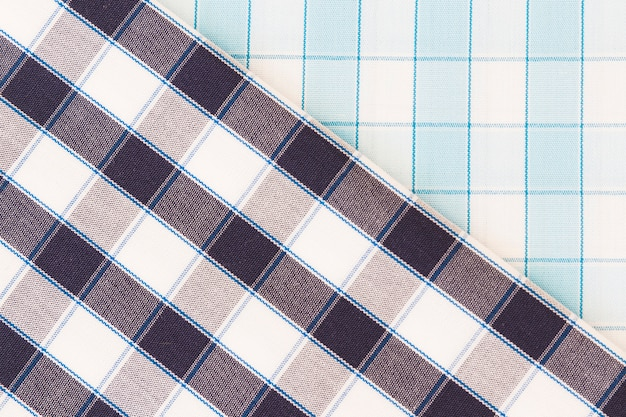 Two different check fabric texture diagonal lines seamless pattern Free Photo