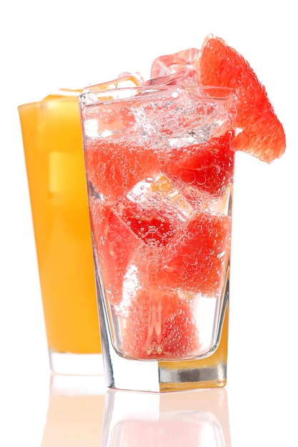 Two different juices Free Photo