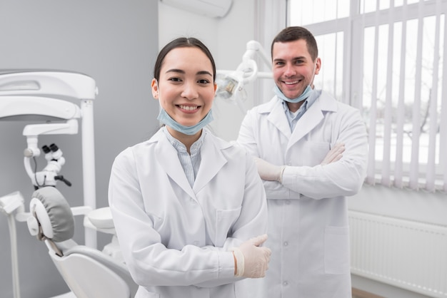 Two friendly dentists Free Photo