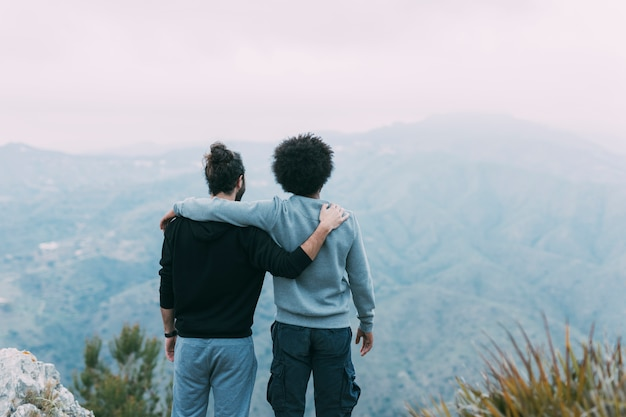 Two friends in mountains Free Photo