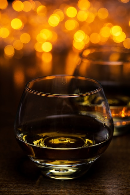 Two glasses of cognac Free Photo