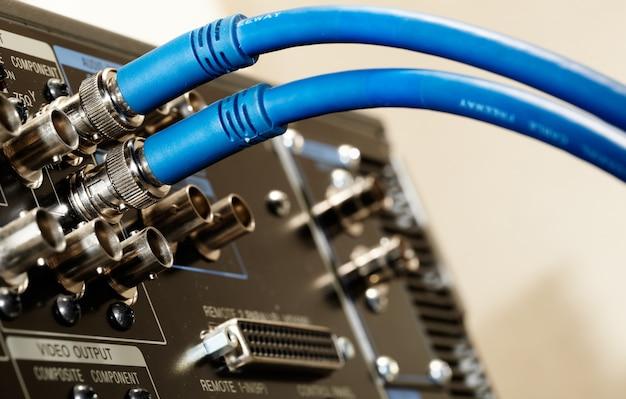 Two hd sdi-video cables Premium Photo