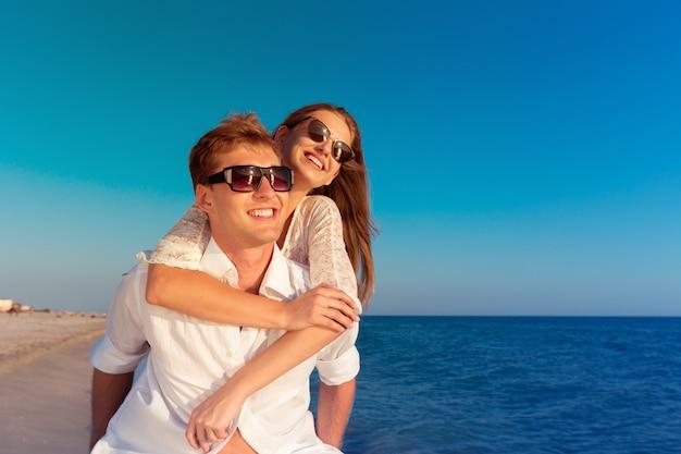 Two lovers on beach Premium Photo