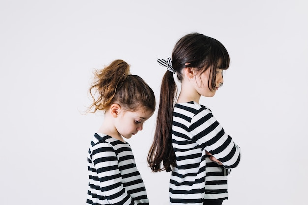 Two offended sisters Free Photo