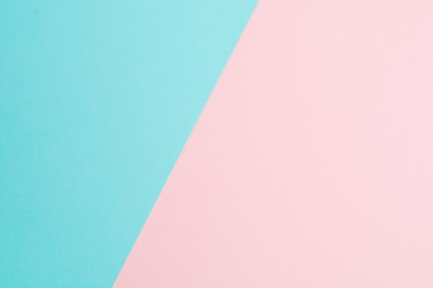 2つのパステル調のカラフルな紙の抽象的な背景 Premium写真