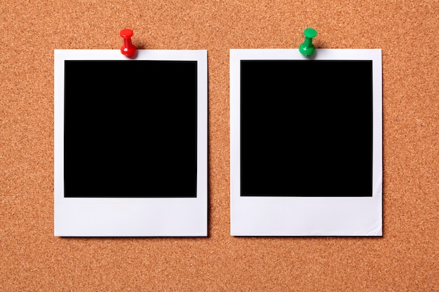 Completely new Two polaroid photo prints on a cork notice board Photo   Free Download HW23