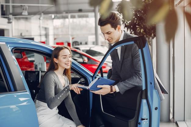 Two stylish woman in a car salon Free Photo