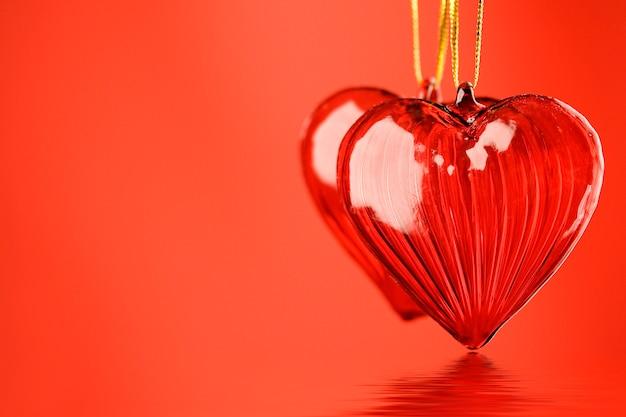 Two valentine's hearts Premium Photo