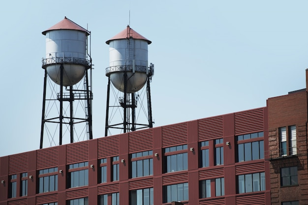 Two water towers Free Photo