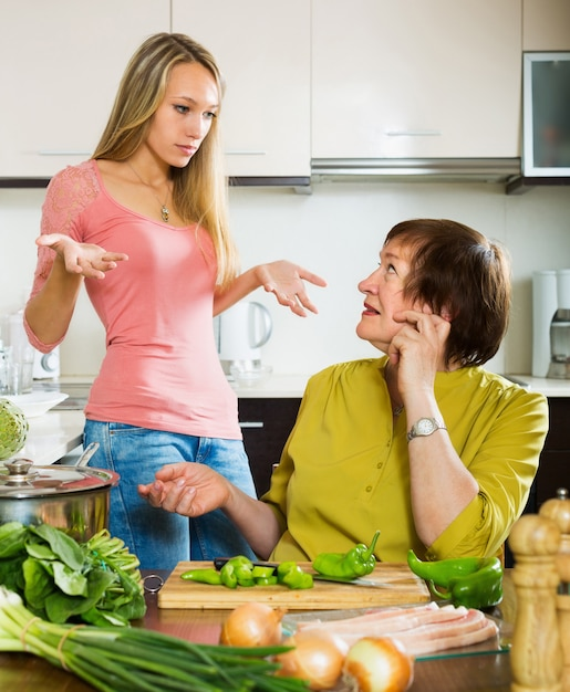 Two women sharing bad news Free Photo