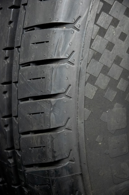 Tyre texture closeup background. Premium Photo