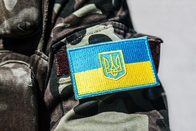 Украинский военный шеврон Premium Фотографии